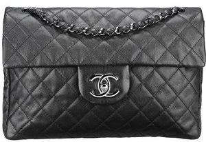 CHANEL Quilted Leather Handbag In Black