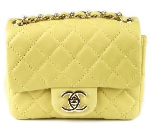 CHANEL Bags Quilted Yellow CC Clasp